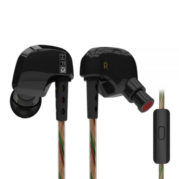 Kz Hd9 In Ear Earphone Hifi Sport With Mic Black 651922