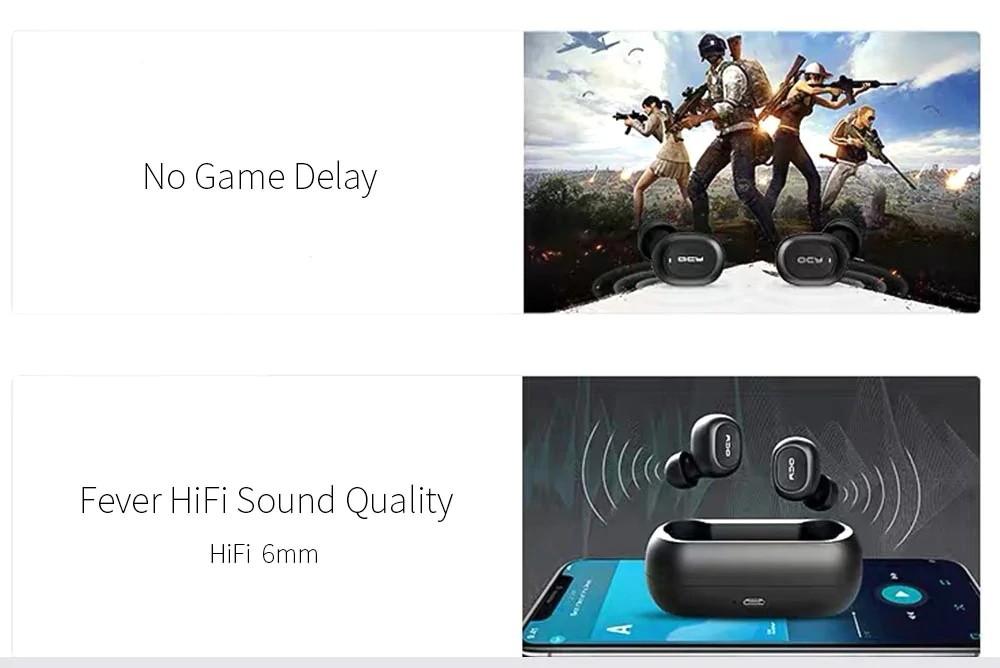 Qcy T1 Mini Bluetooth 5.0 Wireless Earbuds (2)