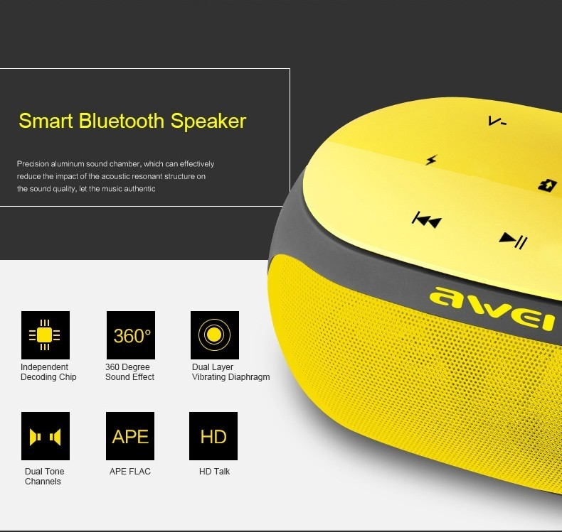 Awei Y200 Hifi Wireless Speaker Bluetooth (8)