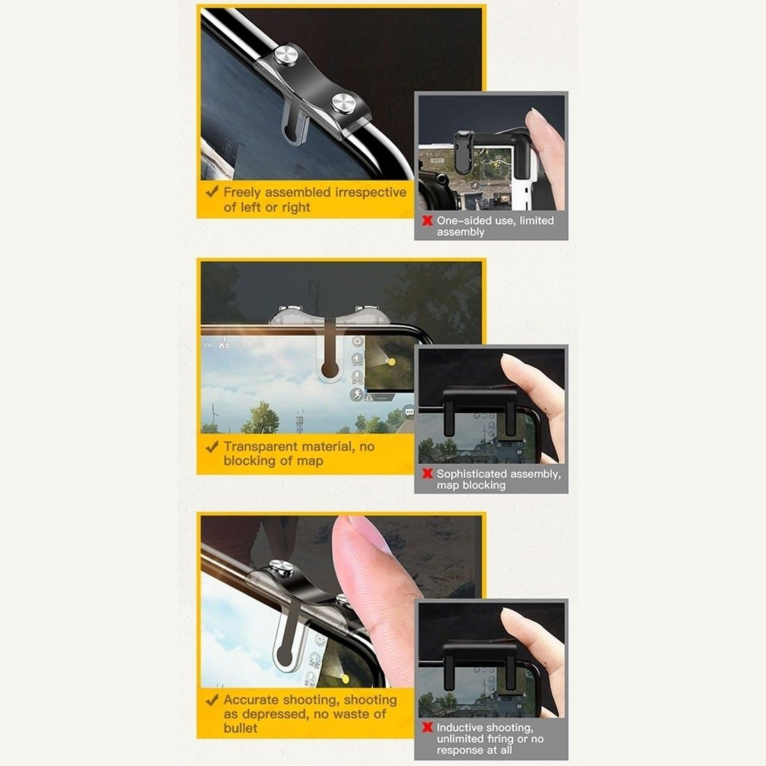 Baseus G9 Pubg Game Shooting Trigger Controllers (8)