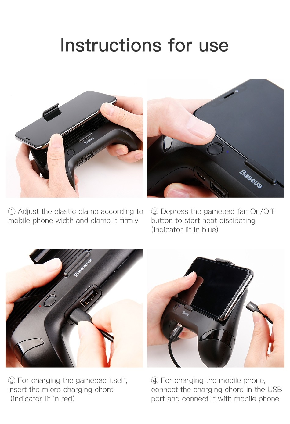Baseus Mobile Phone Cooler Gamepad (7)