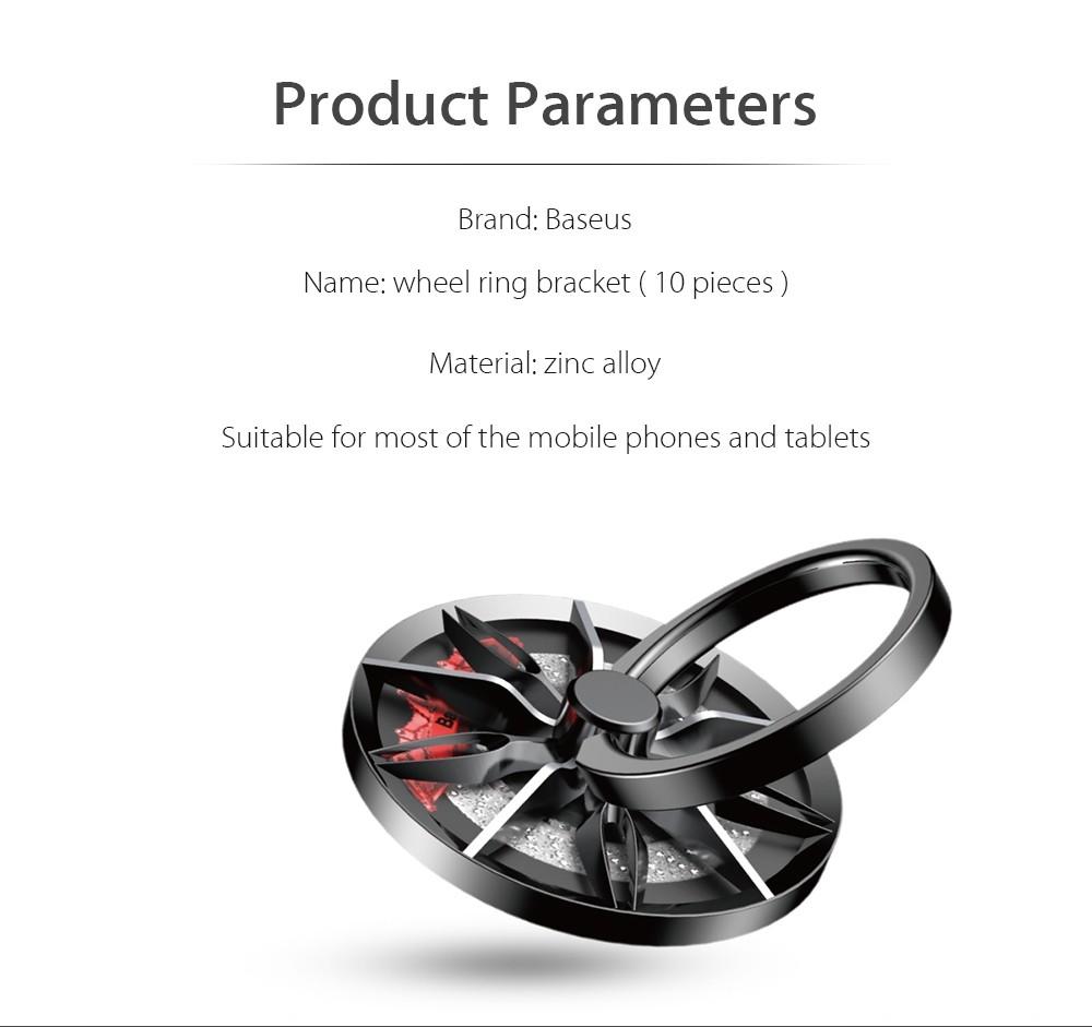 Baseus Wheel Ring Bracket Finger Grip Phone Holder (4)