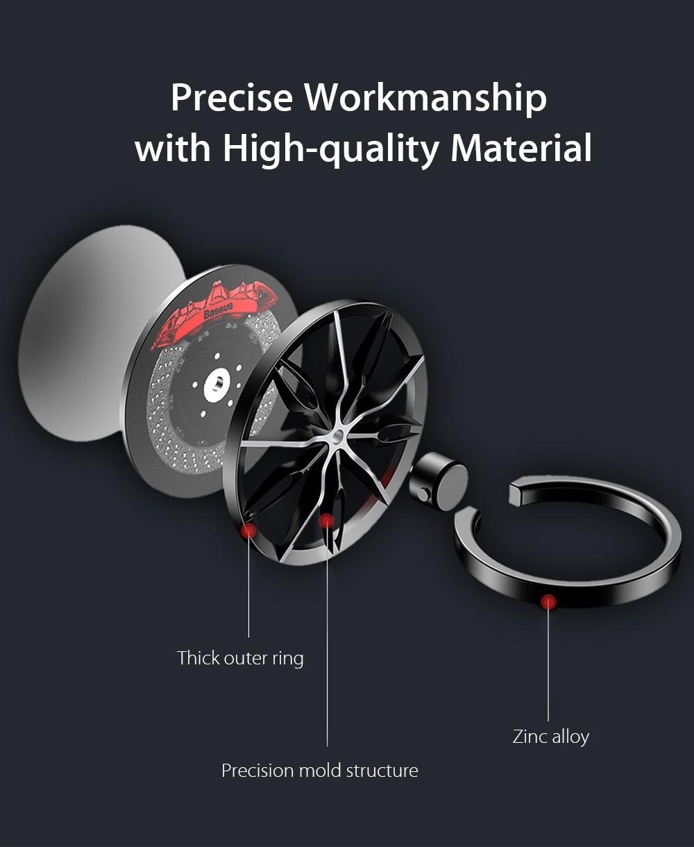 Baseus Wheel Ring Bracket Finger Grip Phone Holder (8)