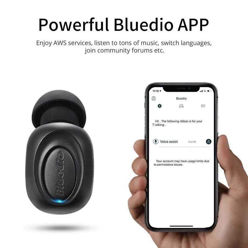 Bluedio T Talking Mini Bluetooth Single Wireless Earbud (7)