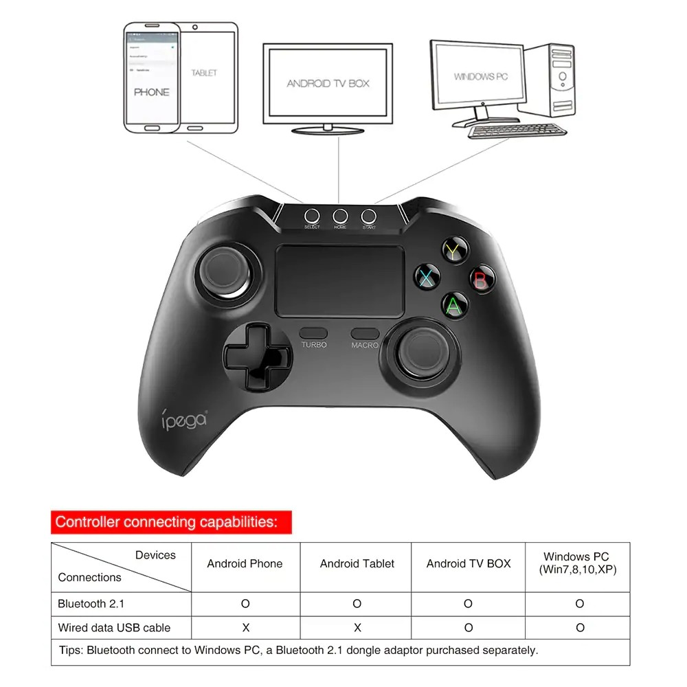 Ipega 9069 Wireless Controller With Touch Pad (1)