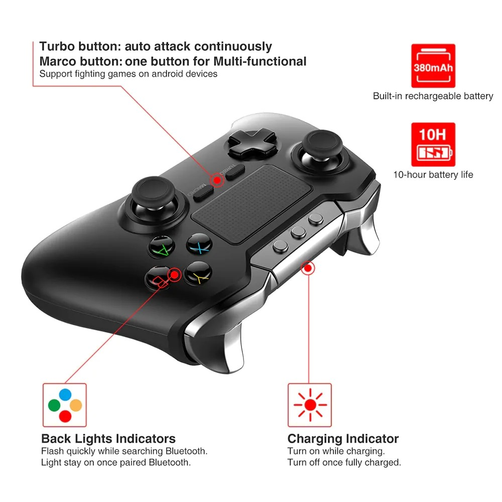 Ipega 9069 Wireless Controller With Touch Pad (5)