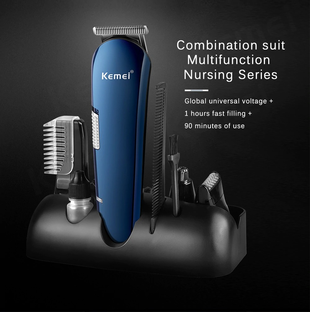 Kemei Km 550 5 In 1 Rechargeable Hair Trimmer (8)