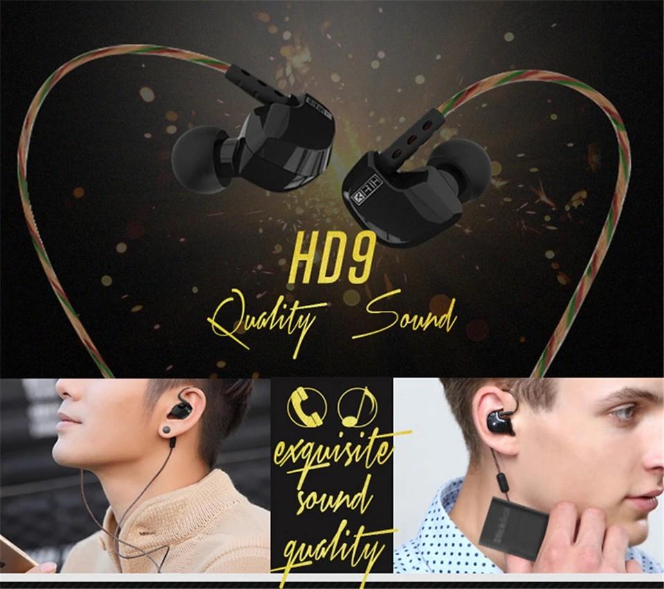 Kz Hd9 Earphones Hifi Sport Earbuds (9)