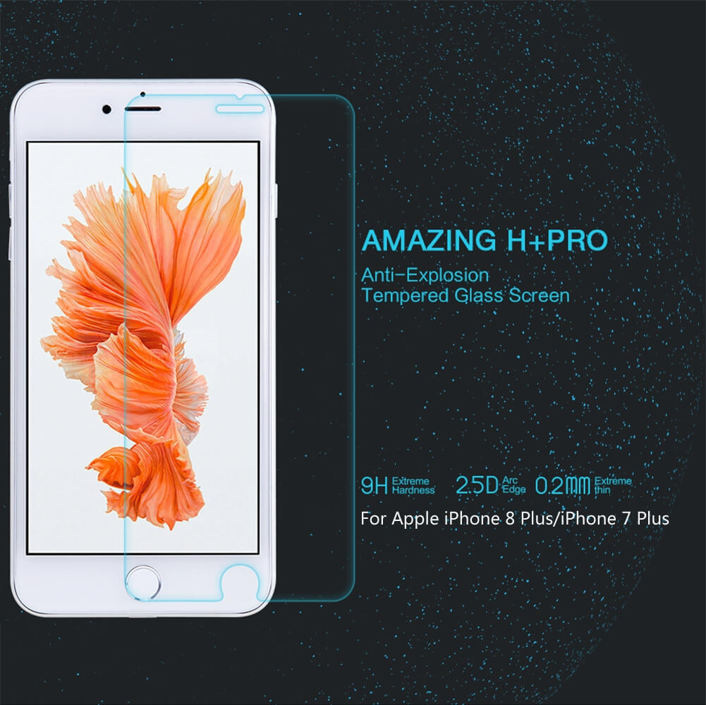 Nillkin Amazing H Pro Tempered Glass Screen Protector For Apple Iphone 8 Plus 7 Plus (1)
