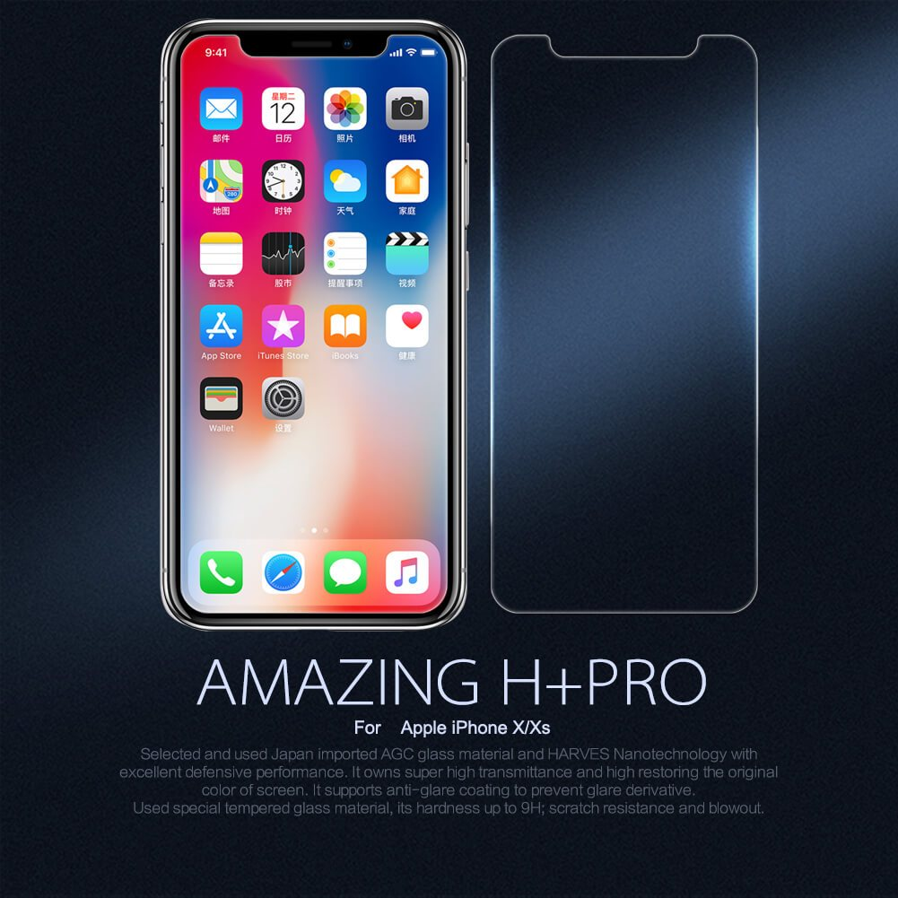 Nillkin Amazing H Pro Tempered Glass Screen Protector For Apple Iphone Xs Iphone X (12)