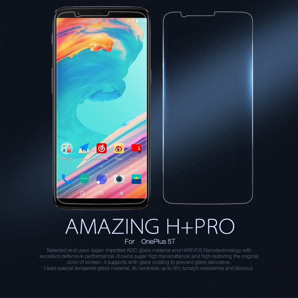 Nillkin Amazing H Pro Tempered Glass Screen Protector For Oneplus 5t (1)