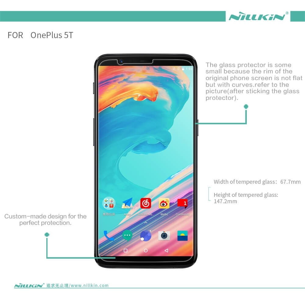 Nillkin Amazing H Pro Tempered Glass Screen Protector For Oneplus 5t (12)