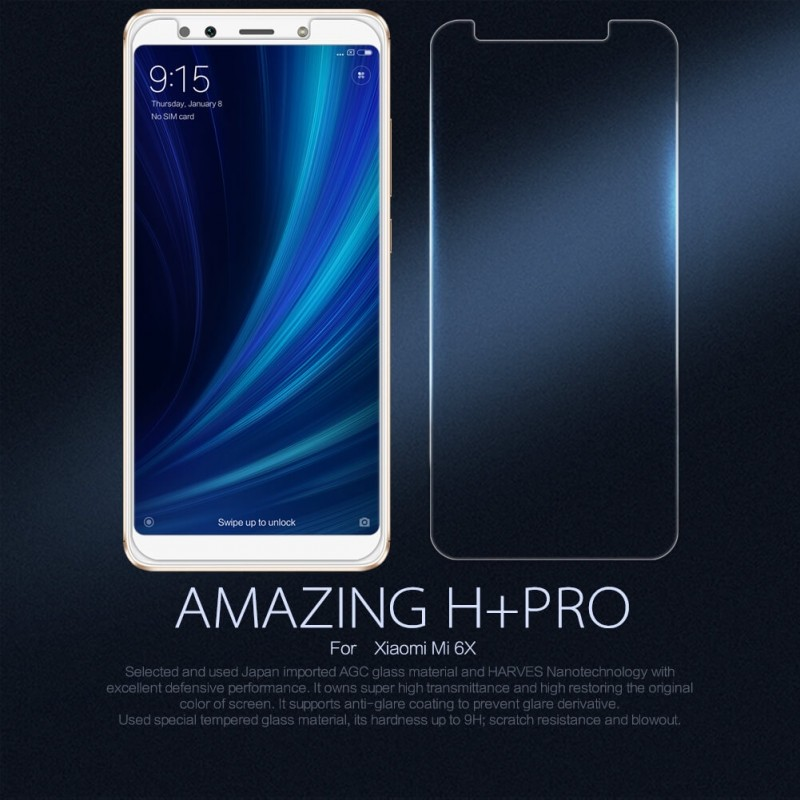 Nillkin Amazing H Pro Tempered Glass Screen Protector For Xiaomi Mi 6x Xiaomi Mi A2 (1)