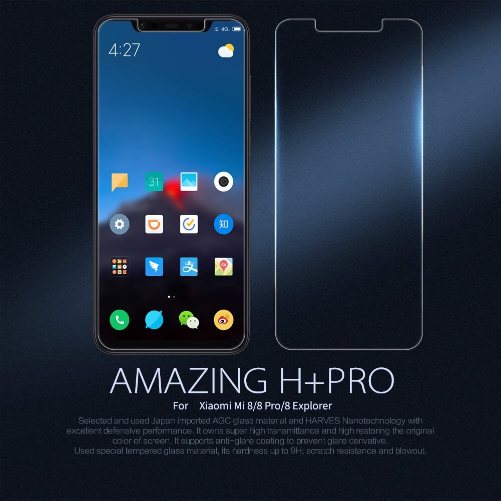 Nillkin Amazing H Pro Tempered Glass Screen Protector For Xiaomi Mi8 (11)