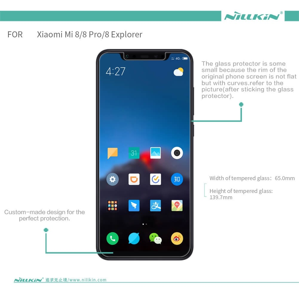 Nillkin Amazing H Pro Tempered Glass Screen Protector For Xiaomi Mi8 (9)