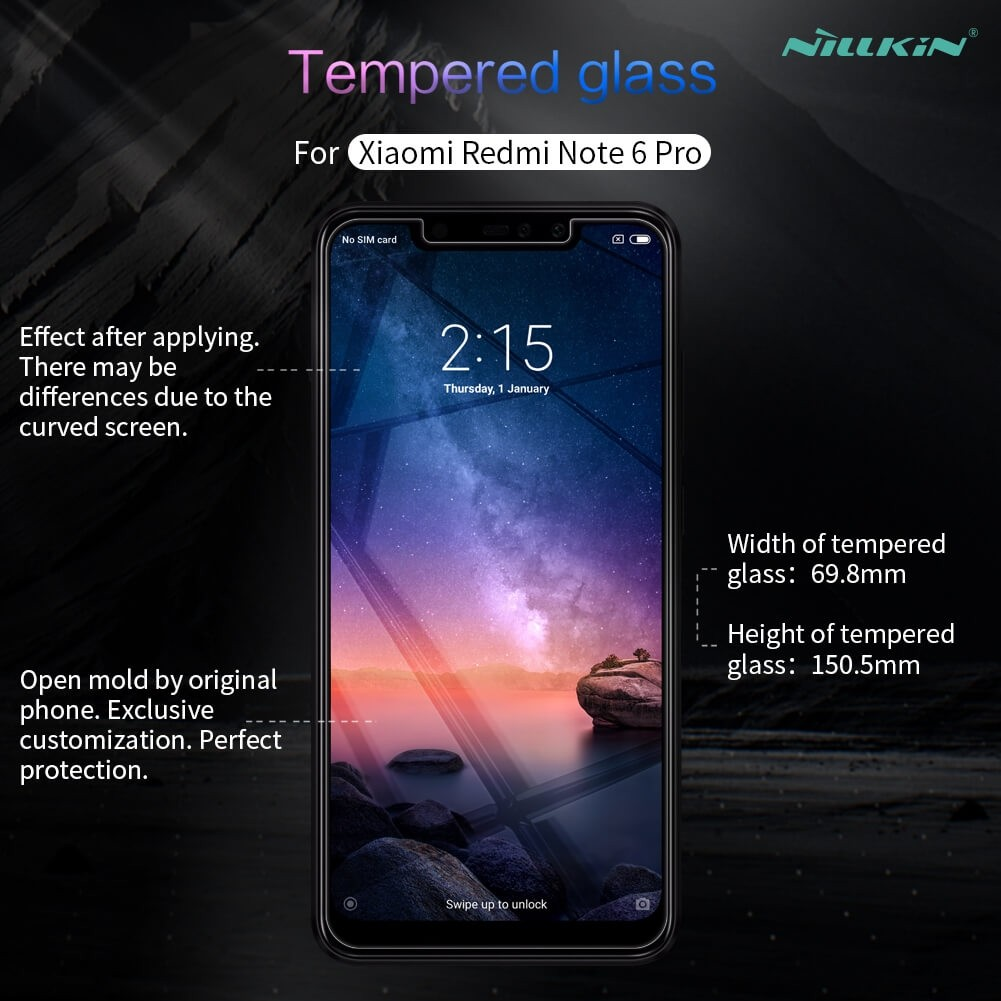 Nillkin Amazing H Pro Tempered Glass Screen Protector For Xiaomi Redmi Note 6 Pro (11)