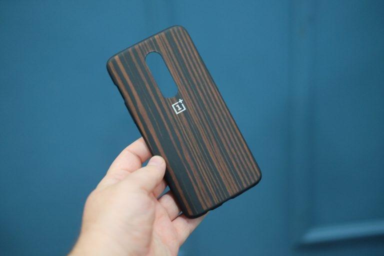 Oneplus 6 Ebony Wood Bumper Case (2)
