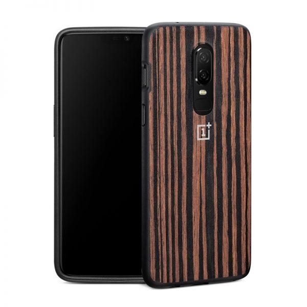 Oneplus 6 Ebony Wood Bumper Case (4)