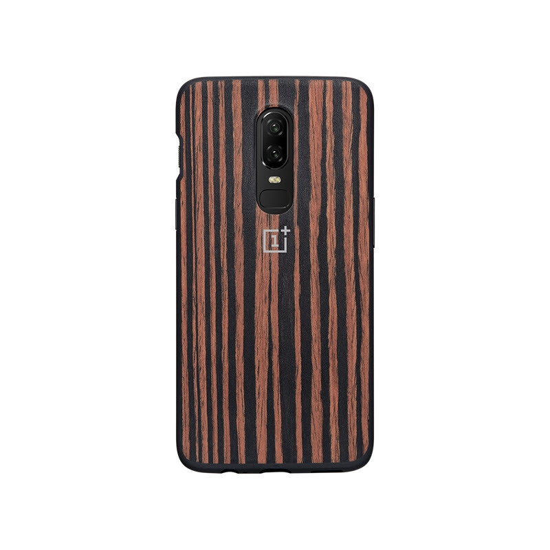 Oneplus 6 Ebony Wood Bumper Case (5)