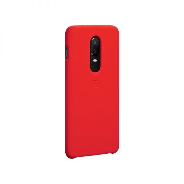 Oneplus 6 Silicone Protective Case Red (1)