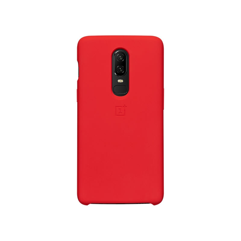 Oneplus 6 Silicone Protective Case Red (2)