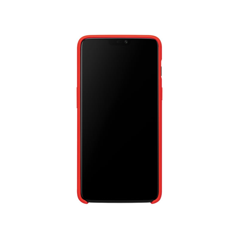Oneplus 6 Silicone Protective Case Red (3)