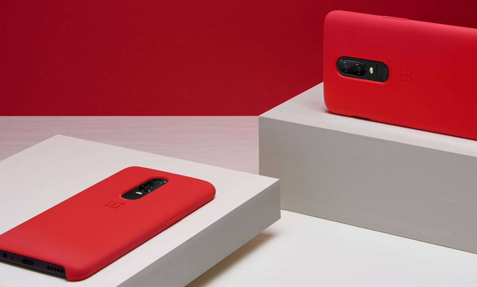Oneplus 6 Silicone Protective Case Red (5)