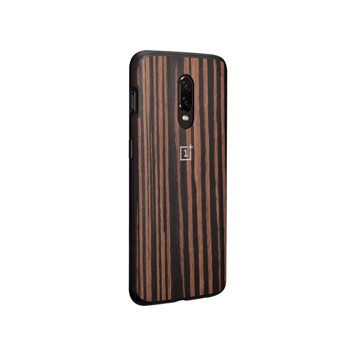 Oneplus 6t Ebony Wood Bumper Case (3)