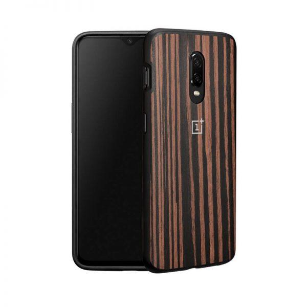 Oneplus 6t Ebony Wood Bumper Case (5)