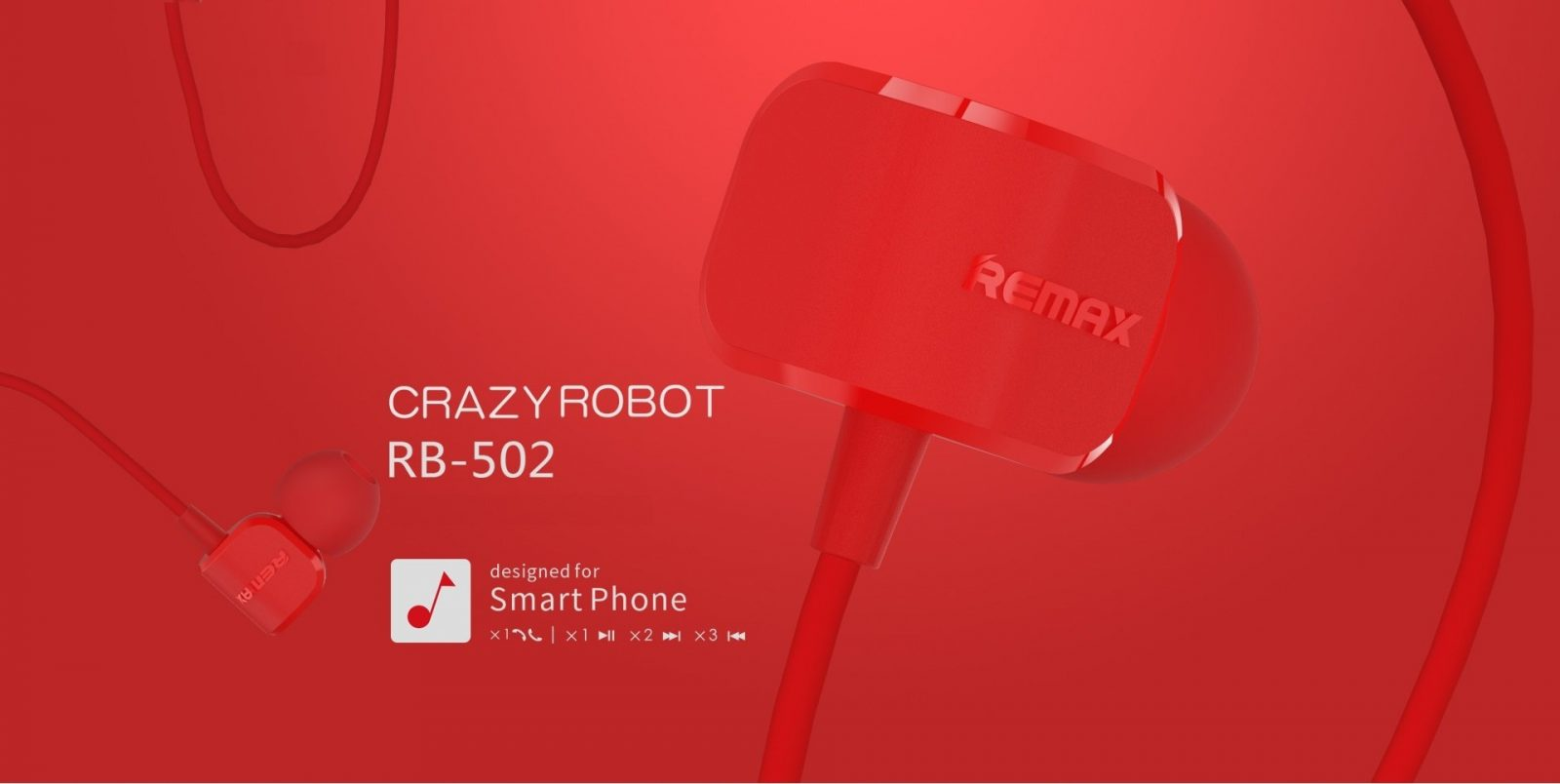Remax Rm 502 Crazy Robot In Ear Earphone (1)