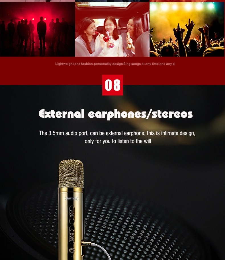Remax Rmk K03 Microphone Bluetooth Speaker (13)