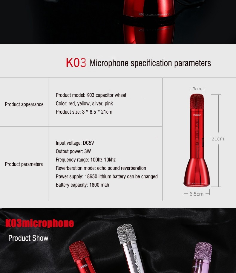 Remax Rmk K03 Microphone Bluetooth Speaker (6)