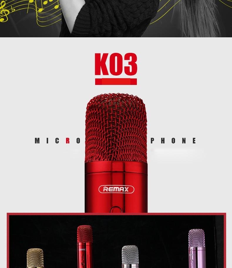 Remax Rmk K03 Microphone Bluetooth Speaker (7)