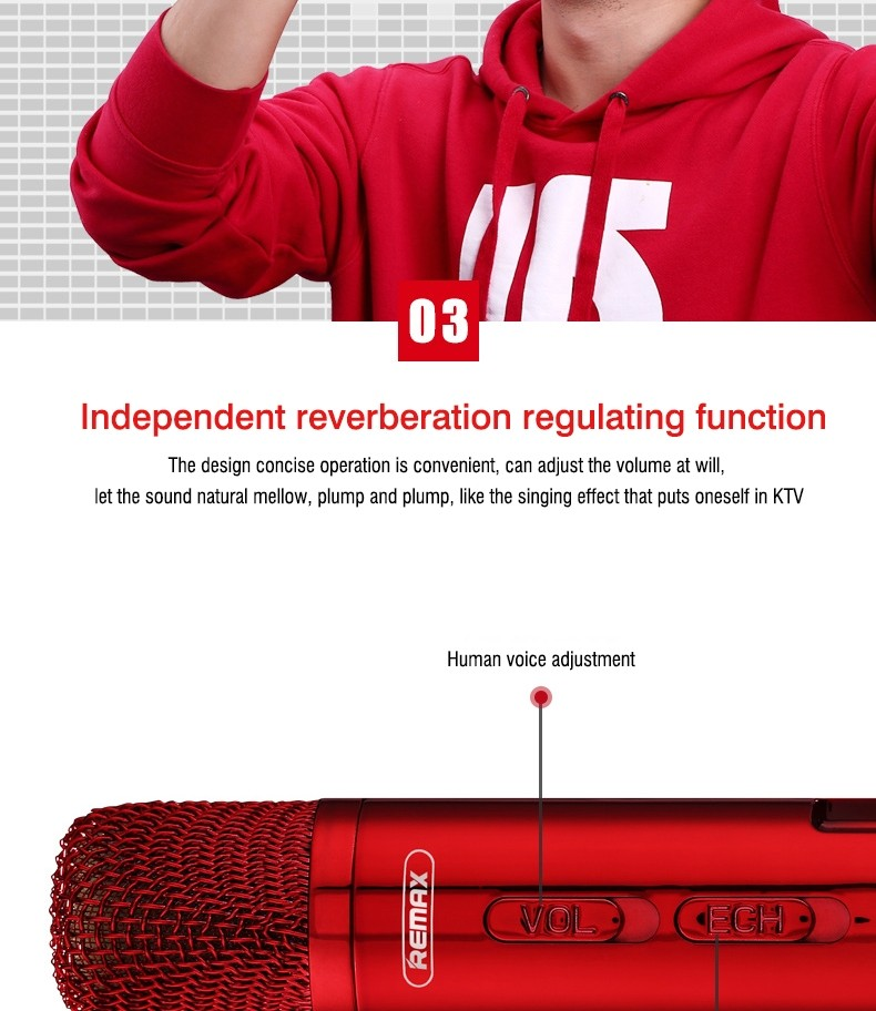 Remax Rmk K03 Microphone Bluetooth Speaker (8)