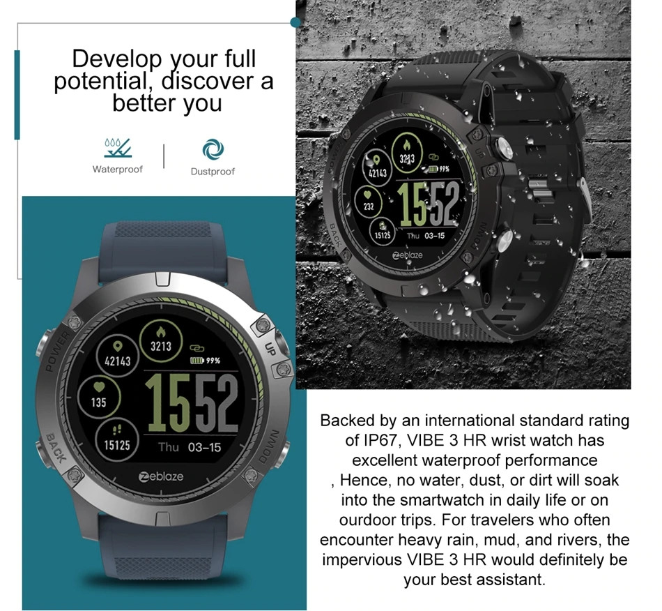 Zeblaze Vibe 3 Hr Waterproof Smartwatch (1)