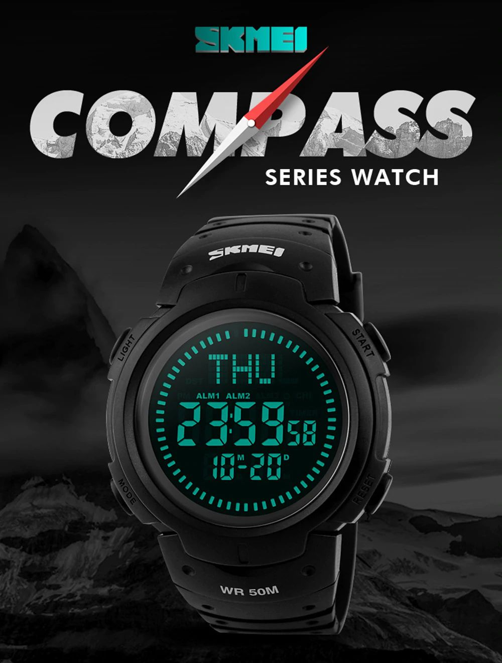 Skmei 1231 Man Sports Compass Watch (3)