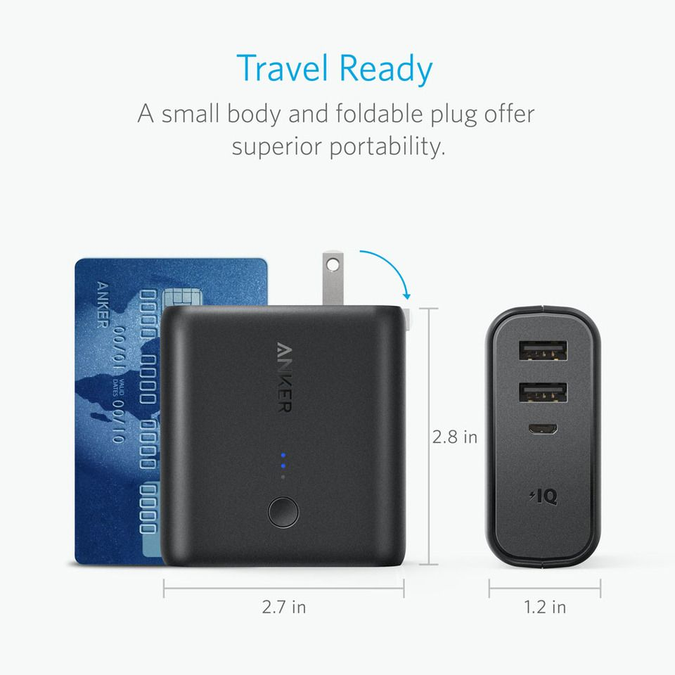 Anker Powercore Fusion 5000 2 In 1 Portable Charger And Wall Charger (1)