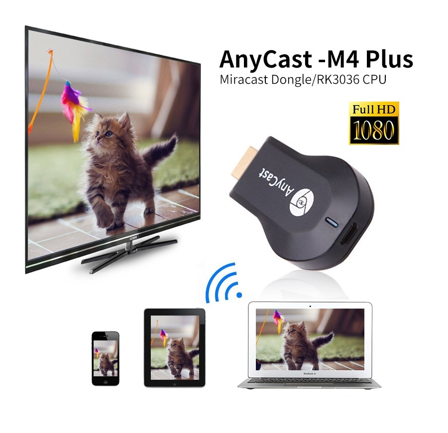 Anycast M4 Plus Wireless Wifi Display Dongle Receiver (2)