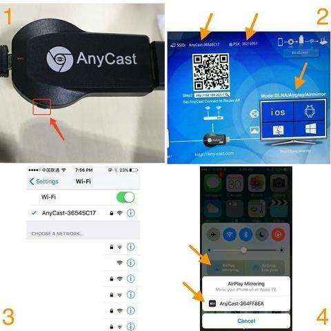 Anycast M4 Plus Wireless Wifi Display Dongle Receiver (3)