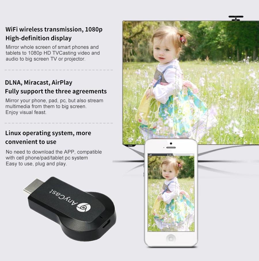 Anycast M4 Plus Wireless Wifi Display Dongle Receiver (4)