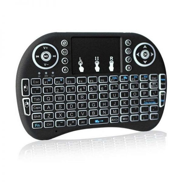 Backlit Mini Wireless Keyboard With Touchpad Infrared Remote Control (2)