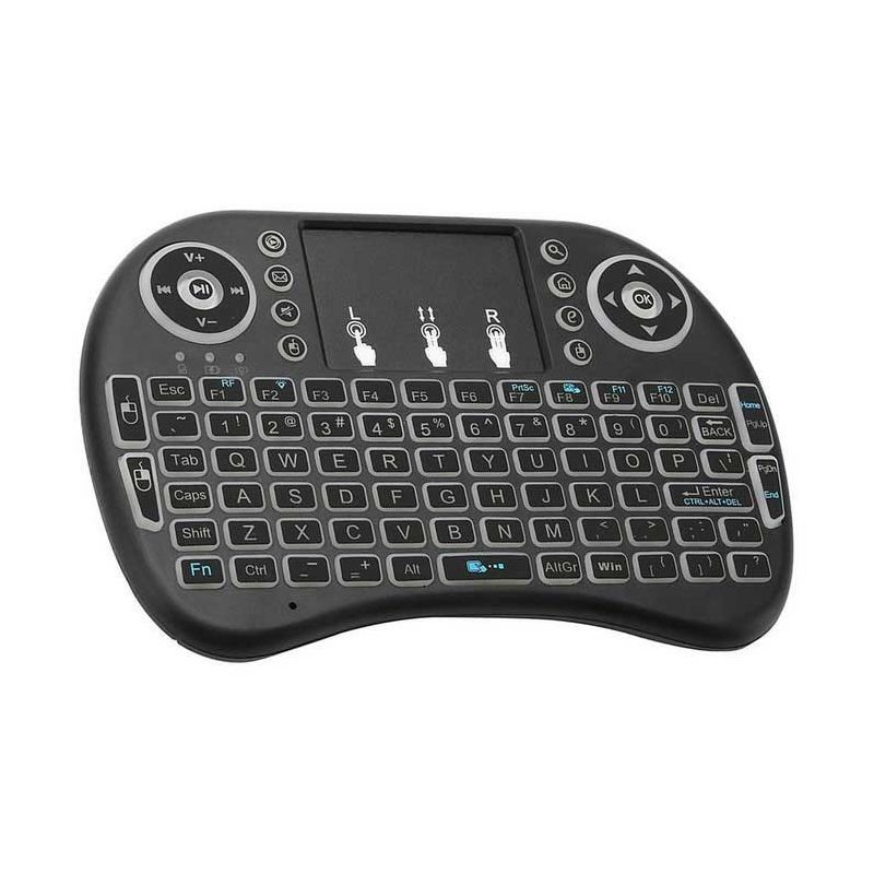 Backlit Mini Wireless Keyboard With Touchpad Infrared Remote Control (4)