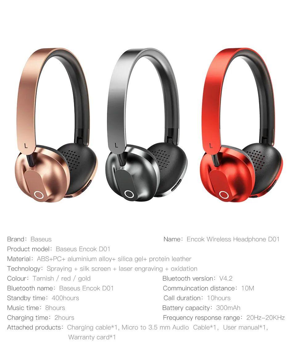 Baseus Encok D01 Bluetooth Headphone (10)