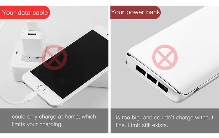 Baseus Energy 2 In 1 2500mah Power Bank With Lightning Cable (1)