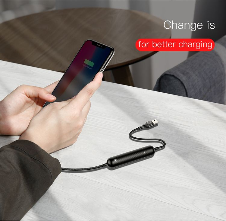 Baseus Energy 2 In 1 2500mah Power Bank With Lightning Cable (3)