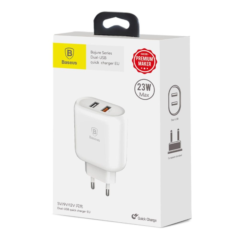 Baseus Quick Charge 3 0 Dual Usb 5v 3a Travel Wall Charger (8)