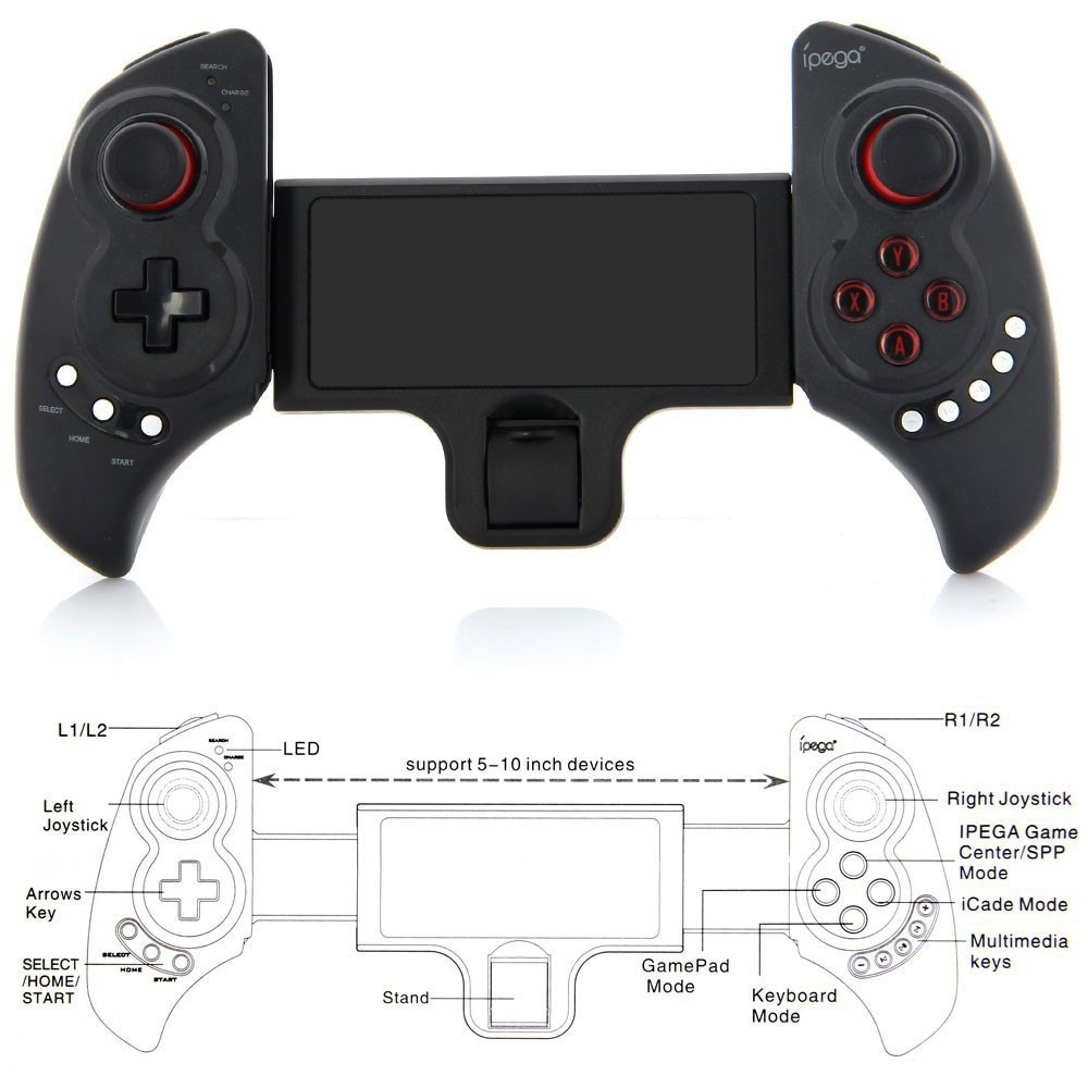 Ipega Pg 9023 Practical Stretch Bluetooth Game Controller Gamepad (2)