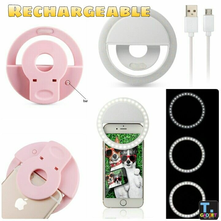 Rechargeable Led Selfie Ring Light Flash (1)