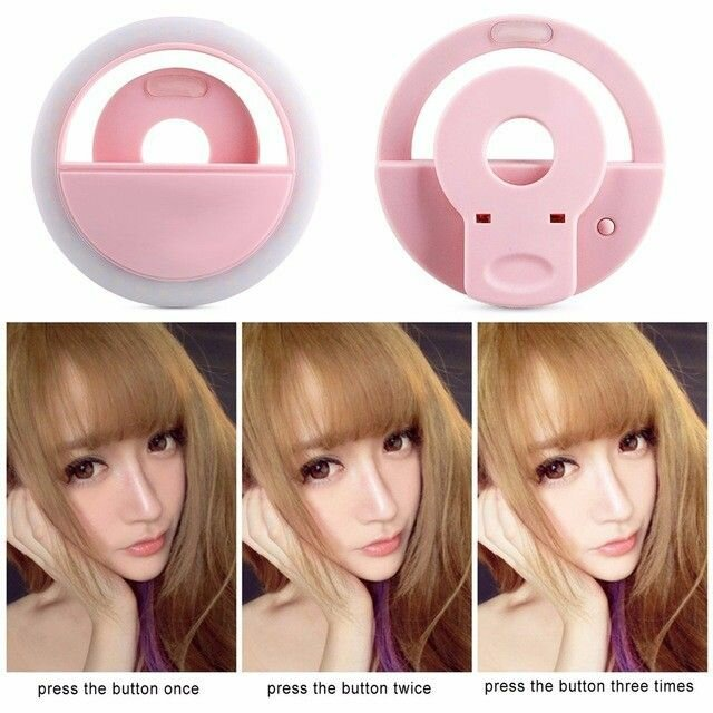 Rechargeable Led Selfie Ring Light Flash (2)