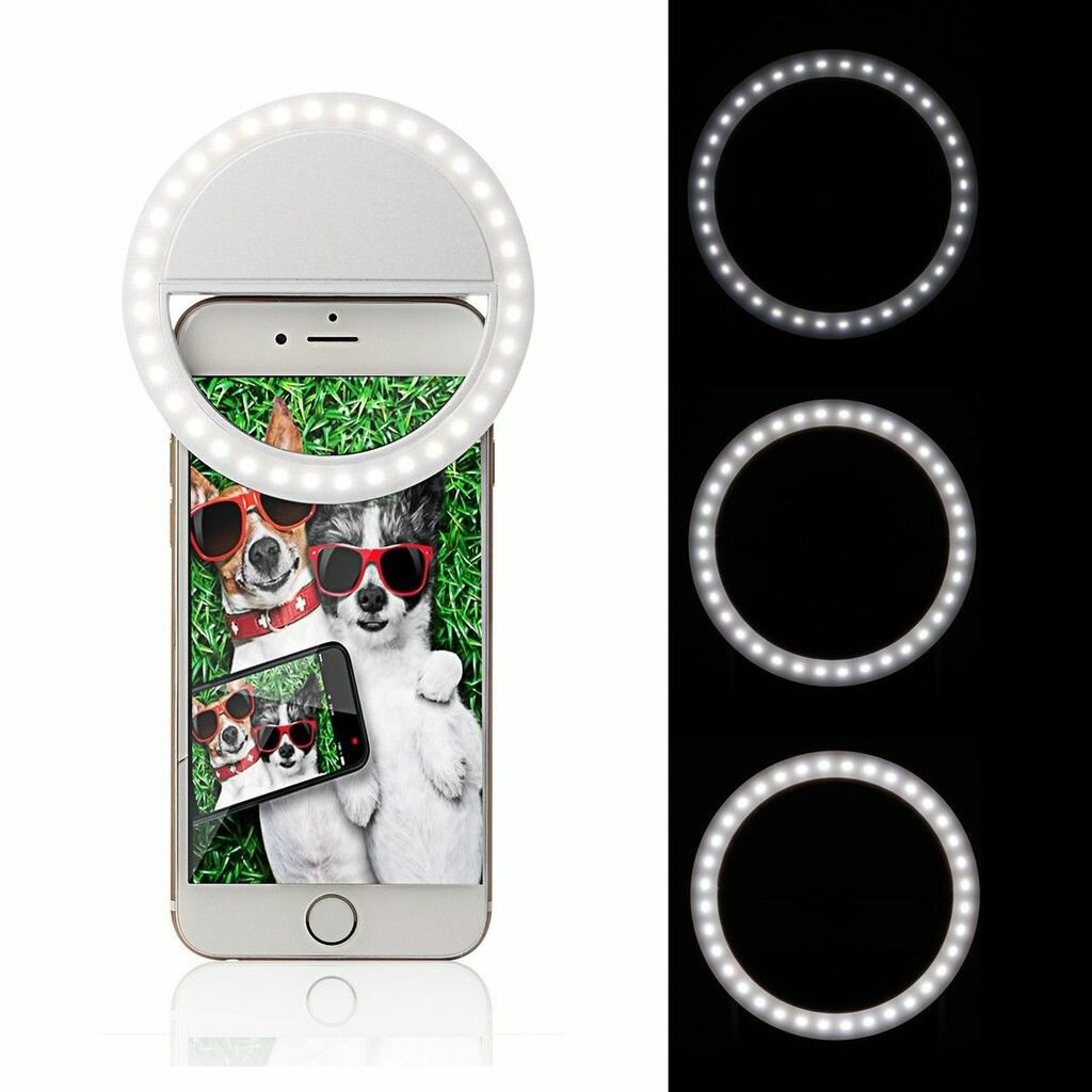 Rechargeable Led Selfie Ring Light Flash (3)